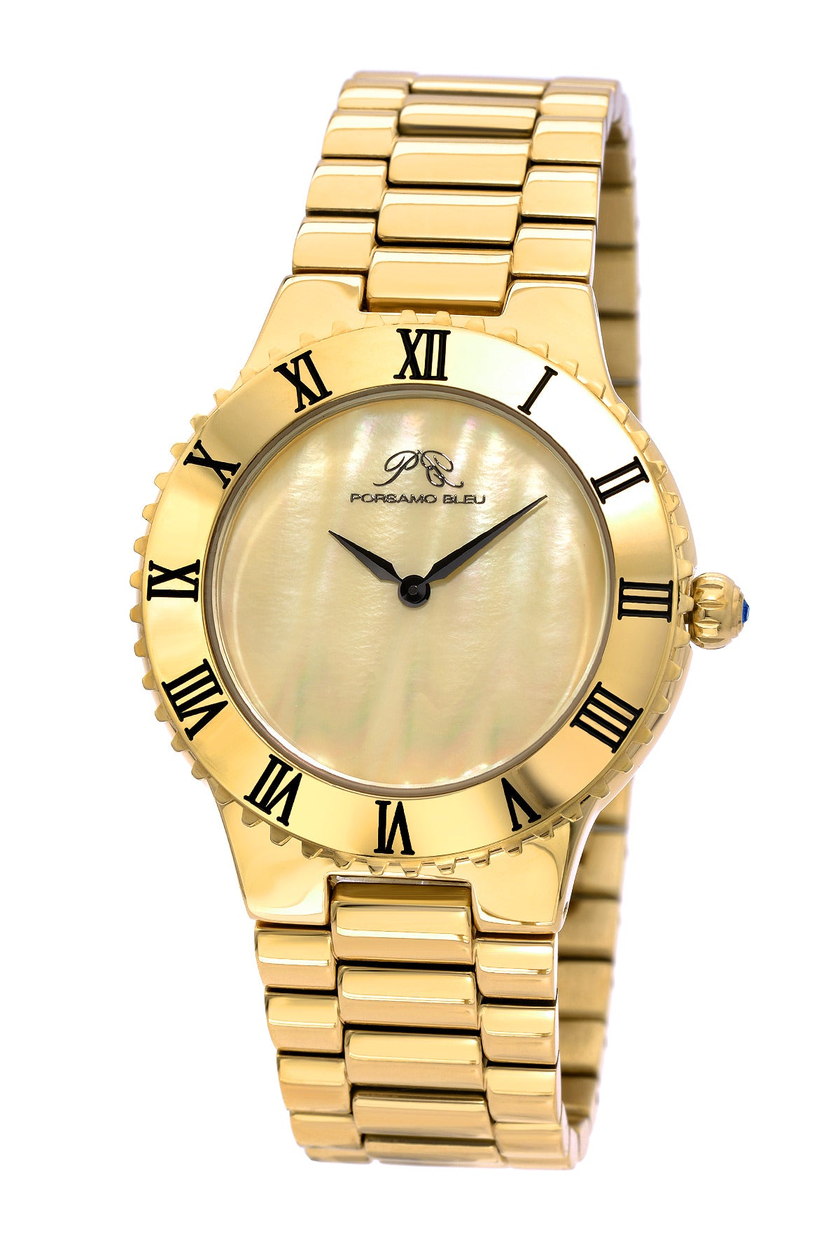 Porsamo Bleu Lexi luxury women's stainless steel watch, gold 941BLES