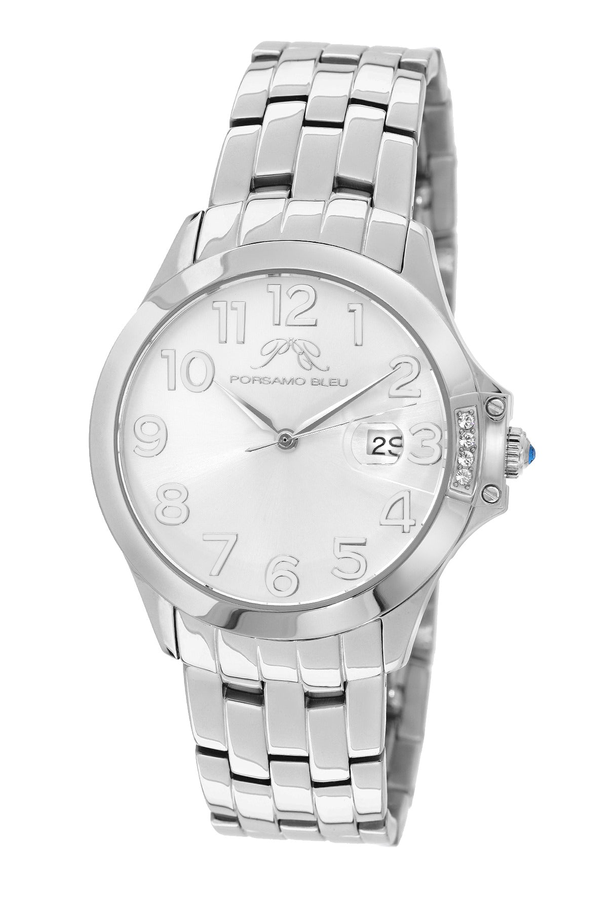Porsamo Bleu Olivia luxury women's stainless steel watch, silver 981AOLS