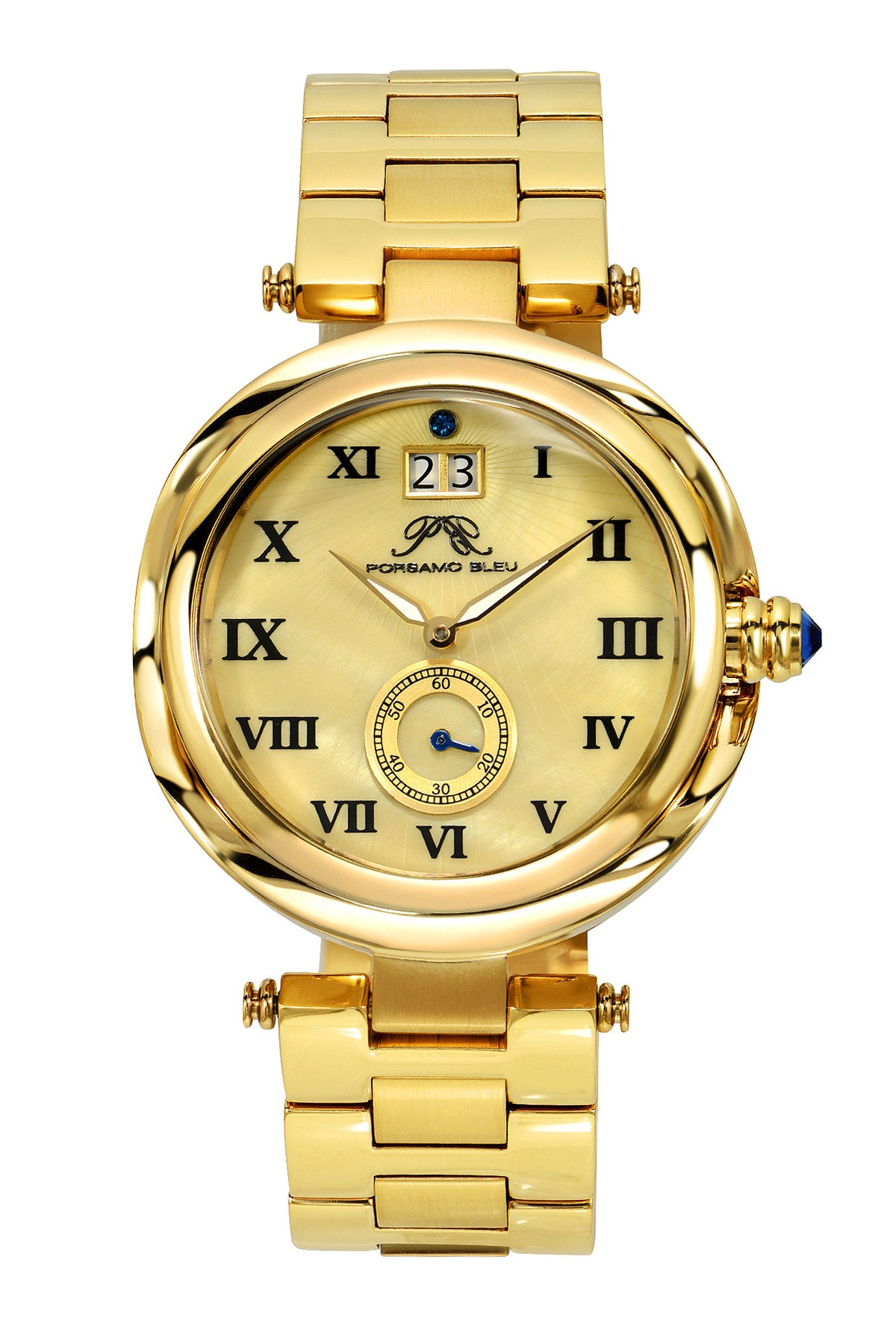 Porsamo Bleu South Sea luxury women's stainless steel watch, gold 103BSSS