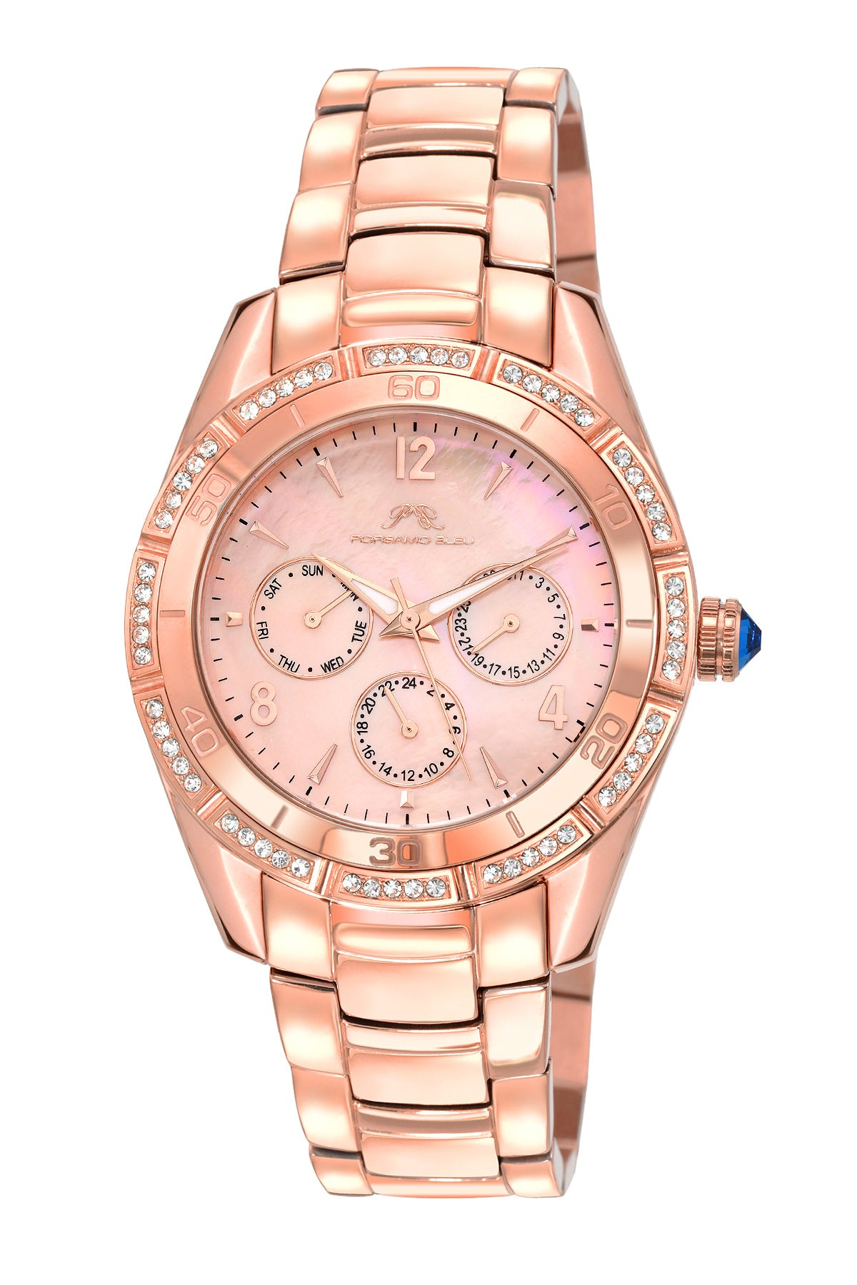 Porsamo Bleu Valentina luxury women's stainless steel watch, rose, white 541CVAS