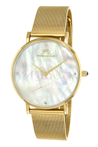 Porsamo Bleu Paloma luxury diamond women's watch, interchangeable bands, gold, white, grey 851BPAS