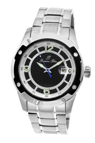 Porsamo Bleu Tokyo luxury Automatic men's stainless steel watch, silver, black 173ATOS