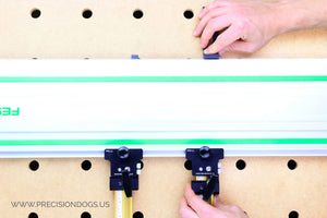 Precision Parallel Guides (Complete set) calibration for Makita and Festool guide rails.