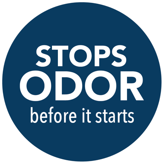 Stops Odor Before it Starts