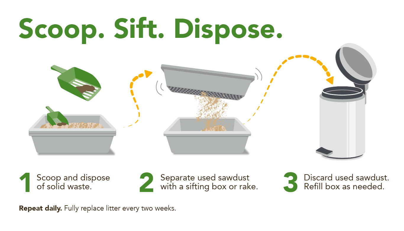 scoop. sift. dispose.