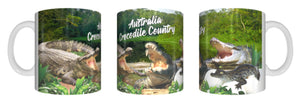 CROCODILE COUNTRY Australia Mug Cup 325ml Gift Aussie Animal Native Crocodiles