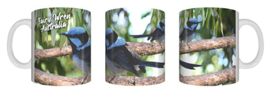 FAIRY WRENS Mug 325ml Gift Native Aussie Australia Animal Wildlife Birds
