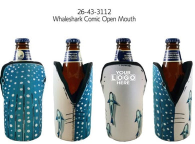 Whaleshark Open Mouth Stubby Holder Drink Cooler Can Holder Neoprene - fair-dinkum-gifts