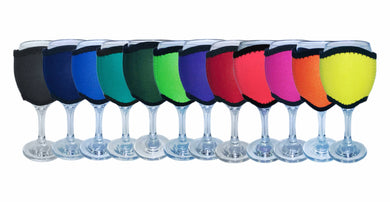 Wine Glass Cooler Pack of 4 Drink Holder Neoprene Choose Your Designs Or Colours - fair-dinkum-gifts