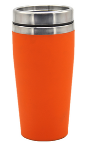 Personalised Rubber Coated Travel Mug LARGE 475ml Gift Cup Choose Your Colour - fair-dinkum-gifts