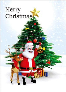 3D Printed Christmas Greeting Cards Aussie Australian Santa CLEARANCE - fair-dinkum-gifts