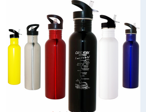 Personalised Drink Bottle 800ml Stainless Steel Laser Engraved Choose Your Colour - fair-dinkum-gifts