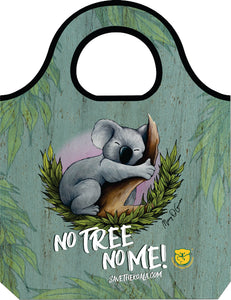 KOALA FOUNDATION RE-USEABLE SHOPPING BAG IN POUCH NO TREE NO ME - fair-dinkum-gifts