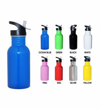 Load image into Gallery viewer, Personalised Mini Kids Water Bottle 500ml Children's Drink Bottle - Choose Your Colour - fair-dinkum-gifts