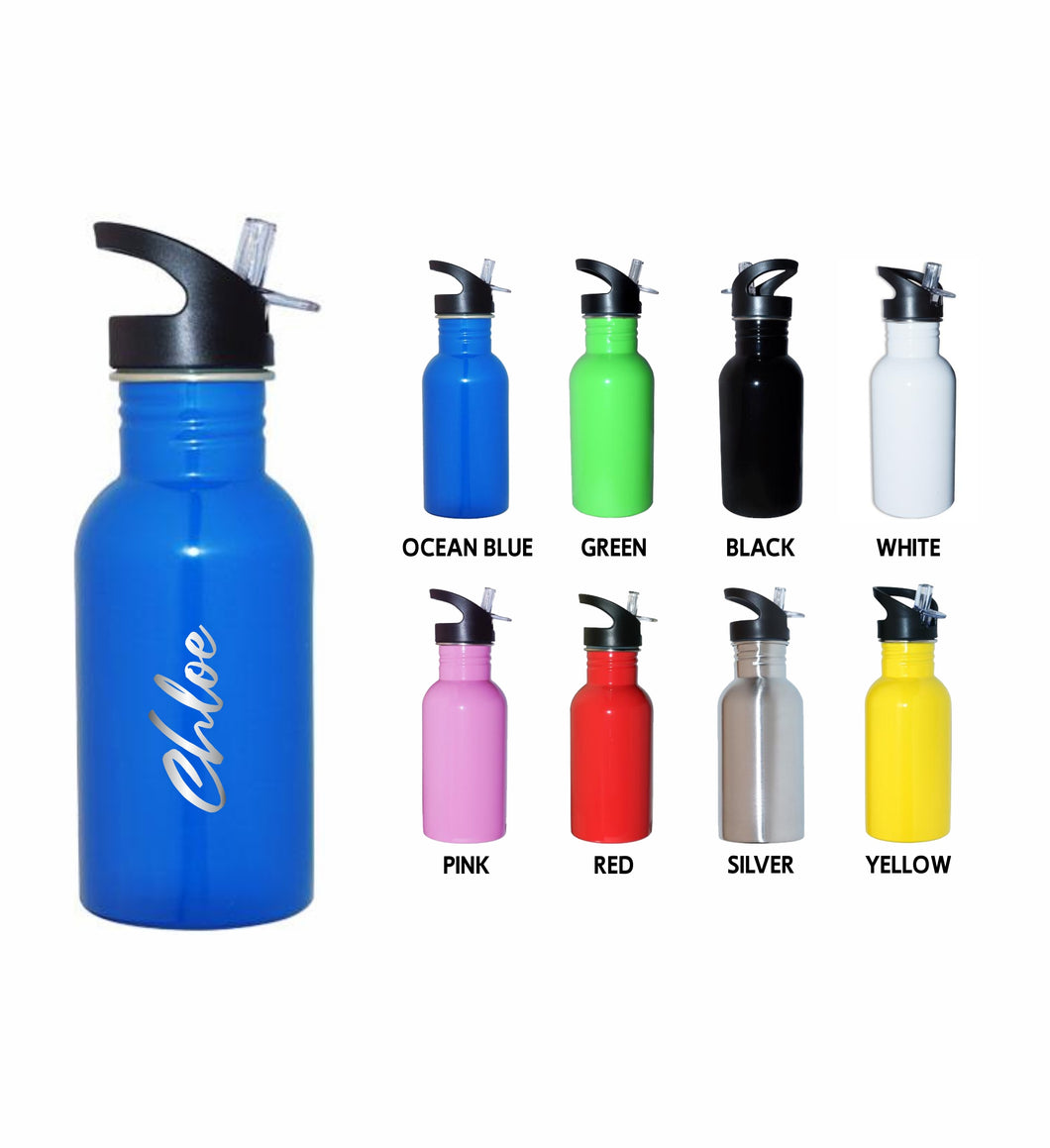 Personalised Mini Kids Water Bottle 500ml Children's Drink Bottle - Choose Your Colour - fair-dinkum-gifts