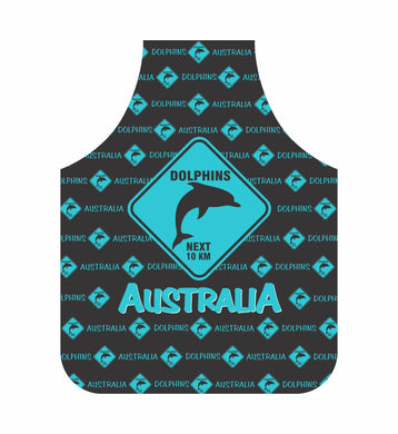 *CLEARANCE* Dolphin Apron Australia Blue Road Sign Design