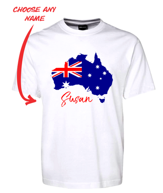 Australia Flag Personalised Tee T-Shirt FDG01-1HT-23002