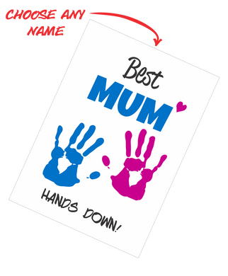 Personalised Mother's Day Teatowel - Best Mum Hands Down FDG03-03-20004