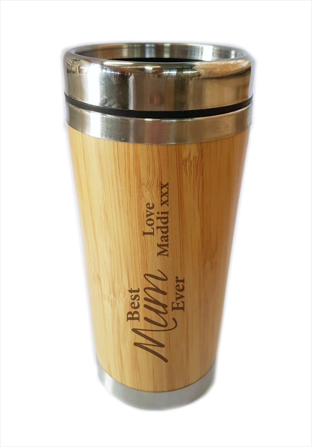 Bamboo Travel Mug Best Mum Ever Personalised Gift For Mother's Day