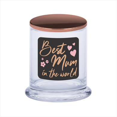 Best Mum In The World Soy Scented Candle Gift For Mother's Day