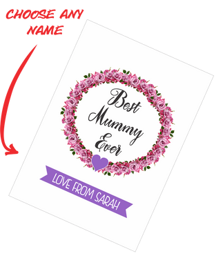 Personalised Mother's Day Teatowel - Best Mummy Ever FDG03-03-20000
