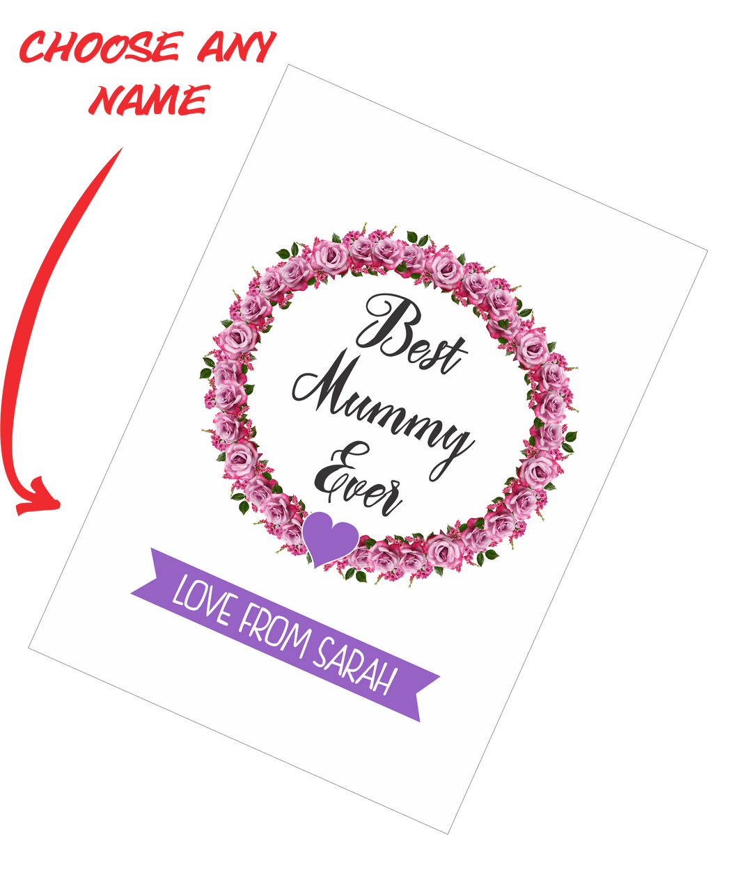 Personalised Mother's Day Teatowel - Best Mummy Ever FDG03-03-20000 - fair-dinkum-gifts