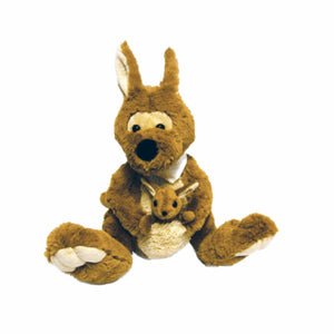 Big Brown Foot Roo with Joey Plush Toy Australia - 25cm - fair-dinkum-gifts