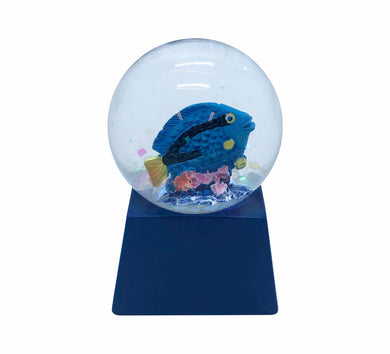Waterball Glass Square Base 45mm Glitter Globe Aussie Gifts Souvenirs Australian Animals - fair-dinkum-gifts