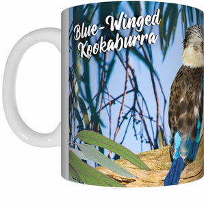 BLUE WINGED KOOKABURRA Mug Cup 300ml Gift Native Aussie Australia Animal Wildlife Birds - fair-dinkum-gifts
