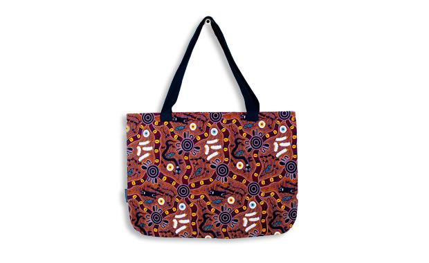 Bush Tucker Tan Large Tote Bag