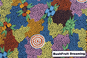 Bush Fruit Dreaming Tote Bag Aboriginal - fair-dinkum-gifts