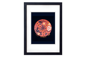 Bush Tucker Black Art Print