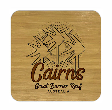 CAIRNS Bamboo Coasters Eco Friendly Set Of 4 Drink Coasters in Box - fair-dinkum-gifts