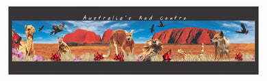Central Australia Montage Bar Runner Northern Territory Non Slip Neoprene Bar Accessories CLEARANCE
