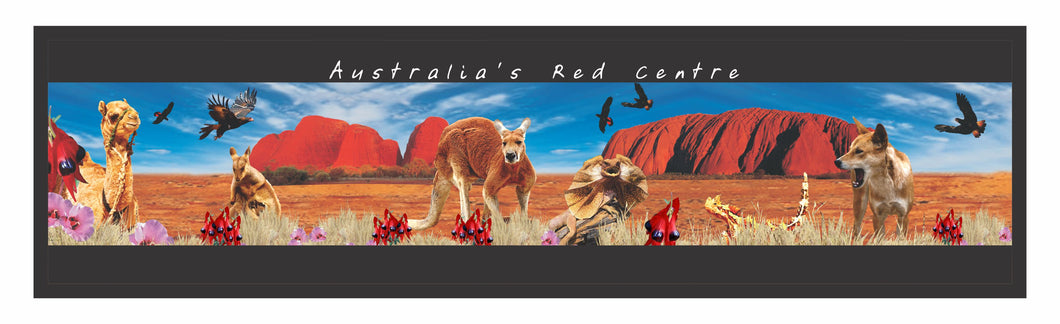 Central Australia Montage Bar Runner Northern Territory Non Slip Neoprene Bar Accessories CLEARANCE - fair-dinkum-gifts