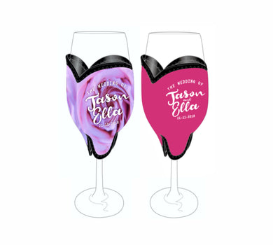 Bulk Customised Champagne Glass Flute Coolers 100 pieces Wedding Favours Gifts Drink Holders Name Date - fair-dinkum-gifts