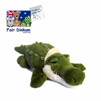 Charles Green Croc Plush Toy Crocodile Australia - 50cm - fair-dinkum-gifts