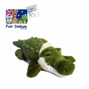 Christian Green Croc Plush Toy Crocodile Australia - 75cm - fair-dinkum-gifts