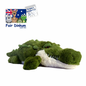 Christopher Croc Plush Toy Crocodile Australia - 100cm - fair-dinkum-gifts