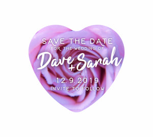 Bulk Lot Save The Date Customised Magnets Wedding Brides Grooms Name Classic Love Heart - fair-dinkum-gifts