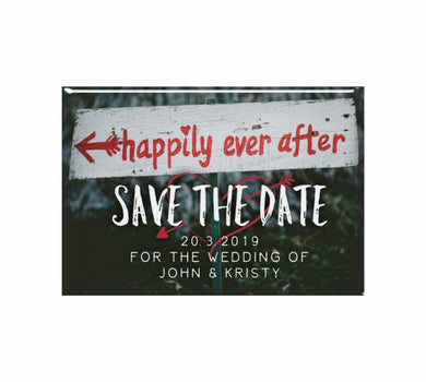 Bulk Lot Save The Date Customised Happily Ever After Magnets Wedding Classic - fair-dinkum-gifts