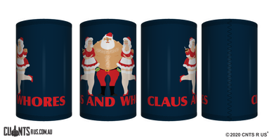 Claus And Whores Stubby Holder CRU26-40-12110 - fair-dinkum-gifts