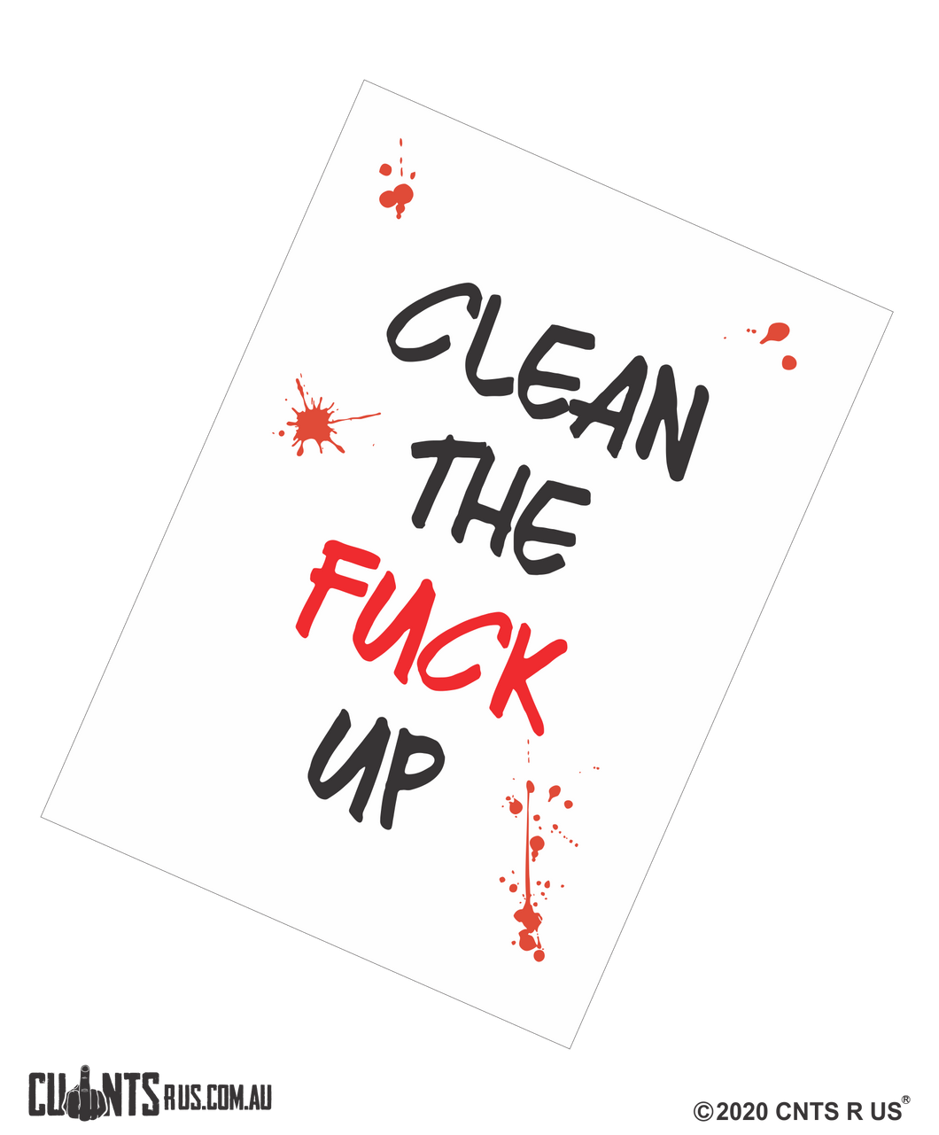 Clean The Fuck Up Cotton Teatowel CRU03-03-14000