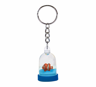 Oily Mini Water Dome Key Ring Aussie Gifts Coloured Liquid Floater Keyrings Snowman Clownfish - fair-dinkum-gifts