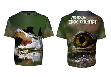 Croc Country Sublimated Tee T-Shirt Australia Crocodiles Aussie Great Outdoors Outback - fair-dinkum-gifts