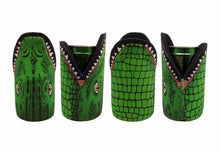 Load image into Gallery viewer, Croc Stubby Holder Pack of 4 Crocodile Drink Cooler Can Holder Neoprene Aussie Green - fair-dinkum-gifts