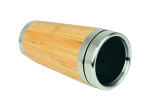 All You Need Is Love & More Coffee Bamboo Travel Mug Flask 450ml Gift Eco Friendly - fair-dinkum-gifts