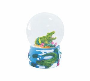Curled Croc Water Ball 35mm Glitter Crocodile Desk Accessories Gifts Waterballs - fair-dinkum-gifts