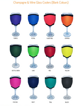 Load image into Gallery viewer, Wine Glass Cooler Pack of 4 Drink Holder Neoprene Choose Your Designs Or Colours - fair-dinkum-gifts