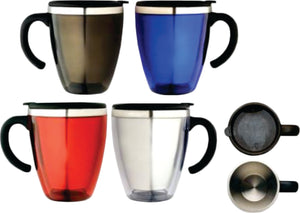 **CLEARANCE** Cone Travel Coffee Mugs Insulation Travel Mug 425ML Black Blue or Red - fair-dinkum-gifts